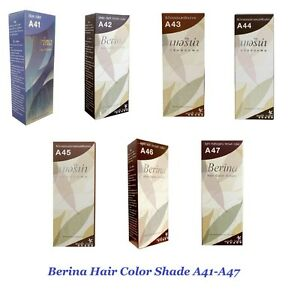 Berina Permanent Hair Cream Shade A41-A47 Color Professional Use 1 set