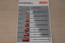 163317) Hako Kehrmaschinen Prospekt 197?