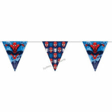 BUNTING PAPER 5 FLAGS SPIDERMAN BUNTING PARTY GARLAND BANNER 190CM SUPER HERO