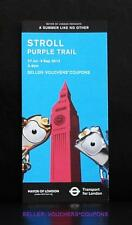 MOL TFL LONDON 2012 OLYMPICS STROLL PURPLE TRAIL GUIDE WENLOCK MANDEVILLE MASCOT