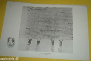 William Shakespeare  Deed 1612 AD Early Document Print Nice SEE!
