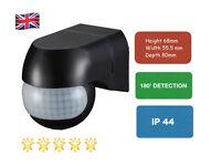 UKEW®  Outdoor 180 Degree Security PIR Motion Movement Sensor Detector Black P15
