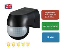 UKEW®  Outdoor 180 Degree Security PIR Motion Movement Sensor Detector Black P15
