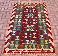 Multi Color Turkish Hand Woven Kilim Rug Oushak Antolian Rug Natural Wool Carpet