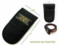 1>BRAND NEW 12.5cm x 7cm(VERTICALLY & HORIZONTALLY)GERBER KNIFE POUCH (NO KNIFE)