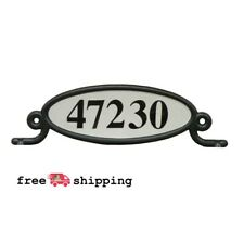 Reflective Address Number Plaque Kit Mailbox Mount Plate Sign Post Box Two Sided