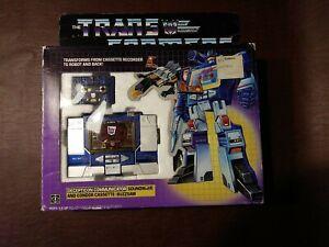 Transformers 1984 G1 SOUNDWAVE & BUZZSAW, laserbeak, frenzy w/box vintage