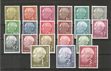 H19030 Bundesrepublik Heuss  Mi. Nr. 177 - 196  Postfrisch  z .T. geprüft BPP