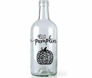 Halloween Wine Light Bottle Vinyl Decal Sticker Hello Pumpkin Table Decoration