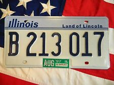 ILLINOIS license licence plate plates USA NUMBER AMERICAN REGISTRATION