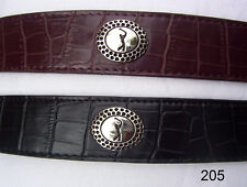 New Men's Croco Dress Golfer Belt $74 Small  Black
