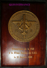 TB250 - PLAQUETTE MEDAILLE ECOLE MILITAIRE COURS SUPERIEUR INTERARMEES FAR 1985