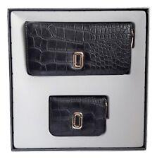 Set idea Regalo Donna Portafoglio ecopelle nero + portamonete/portacarte pelle