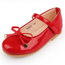 Red Ribbon Shoes Girl Lady Velcro Size Cute NEWDaily Elegant Colour Dress PK9012