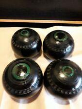 Set Of 4 Thomas Taylor Crown Green Bowling Balls / Lawn Bowls - Size 4 Lignoid