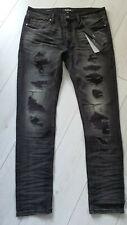 Tigha Herren  Jeans Morten 9903 repaired vintage black Size 32/32