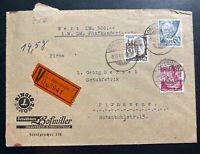 1948 Oppenheim Germany Allied occupation Commercial Cover To Pirmasens
