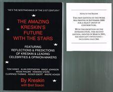 The Amazing Kreskin's Future with the Stars by Bret Saxon Kreskin (2001, Paperba