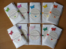 10x Taschentücher im Etui für Freudentränen     mit Namen und Datum zur Hochzeit
