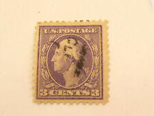 US Postage Stamp Scott #541 Washington 3 Cent Violet Used Hinged