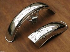 Yamaha RXS RXK RX135 RX115 RX K 135 115 Set Front + Rear Chrome Fender Mud Guard