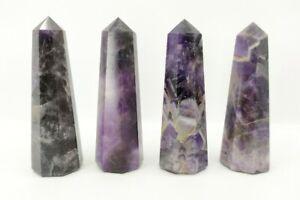 Set Di 5 Cristallo Torre Punti Naturale Obelisco Reiki E Cristallo Griglie
