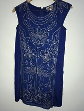 NEW Yoana Baraschi Sequin Chiffon Sheath Dress Size XXS Petite Royal Blue