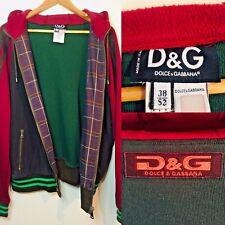 Vintage Dolce & Gabbana Varsity Style Jacket Hoodie Brown/Red/Green M/L
