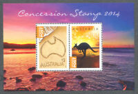 Australia-Concession stamps min sheet 2014 limited printing mnh