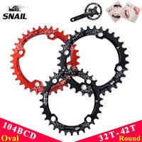 SNAIL 32/34/36/38/40/42T MTB Bike Narrow Wide Chainring 104bcd Single Chainwheel