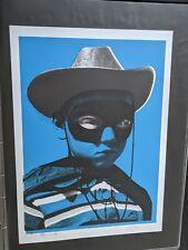 Paul insecto DJ Shadow Cabeza Grande Azul firmadas y numeradas imágenes en las paredes Mo wax