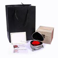 Infinity Herz Rosenbox Rosenherz Ewige Rose konserviert + GRAVUR Liebes Geschenk