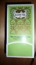 Kusmi Tea Sacchetti di Tè Verde Ginger & Lemon Nuovo con Scatola Chic Designer Regalo Gourmet Fab!