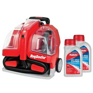 Rug Doctor Portable Spot Carpet Cleaner with 2 x 500ml Spot Cleaning Solution