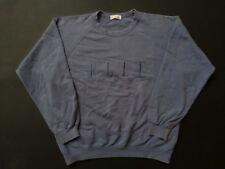 ELLE HOMME Sweatshirt Pullover Crewneck Sweater Big Logo Rugby Jacket Size M
