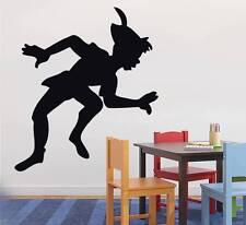 PETER PAN Decal WALL STICKER Silhouette Home Decor Art Disney ST97