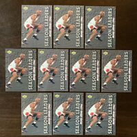 1993 MICHAEL JORDAN UPPER DECK #171 SEASON LEADERS LOT OF 10 CARDS, LAST DANCE