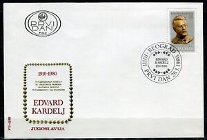 1819b- Yugoslavia 1980 - Edvard Kardelj - Slovenia Politician - FDC