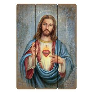 """12"""" x 15"""" Wood Pallet Sign Sacred Heart of Jesus"""
