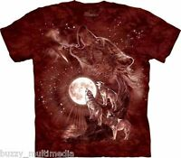 Wolf Moon Concert Shirt, howling, Mountain Brand, In Stock, Small - 5X, graphic