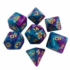 Set Of 7 Rainbow Dice For DND and MTG Game Gift Game Party Toy