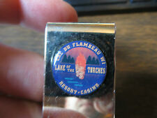 Lac Du Flambeau Wi Lake of the Torches resort casino advertising money clip