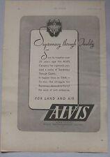 1943 Alvis Original advert No.1