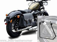 """Sacoche de selle """"Boston"""" 20 LTR. droit Harley Davidson, sportster, déballer cendres + support"""