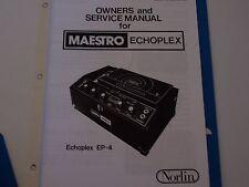 Maestro Echoplex EP4 Owners / Service  PDF Manual