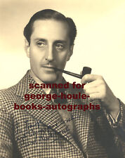 BASIL RATHBONE~PHOTOGRAPH - AUTOGRAPH ~1940~PIPE