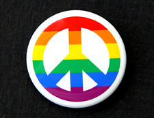 "PEACE RAINBOW - Button Pinback Badge 1.5"" Symbol"