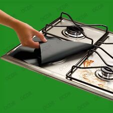 4x Gas Hob Protector Liner Easy Clean Reusable NonStick Silicone Dishwasher Safe