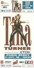 RARE / TICKET DE CONCERT - TINA TURNER PARIS BERCY 11 SEPTEMBRE 1996 /COMME NEUF