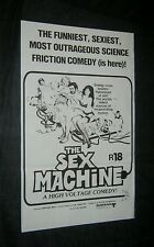 Original SEX MACHINE New Zealand daybill Gigi Proietti